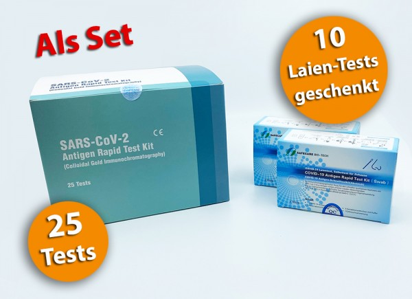 Lepu - Nasenbohrertest medizinisch & Set SAFECARE / 25-10