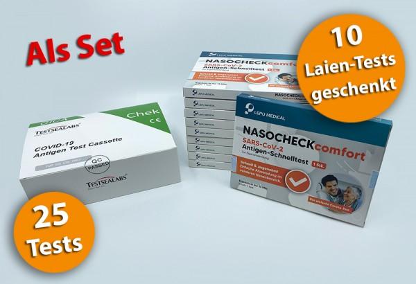 Testsealabs - Nasenbohrertest medizinisch & Set / 25-10