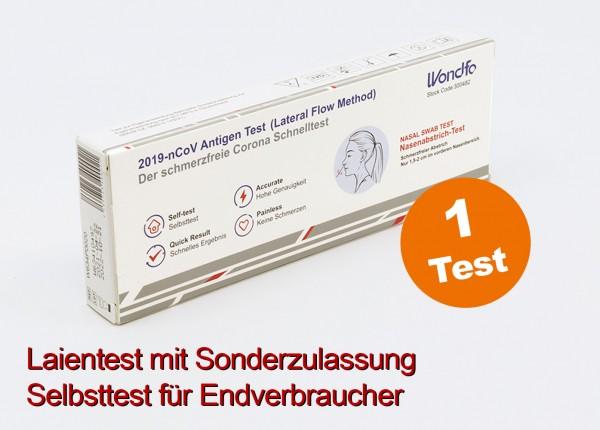 WONDFO - 1er Laientest (Nasenbohrertest) mit Sonderzulassung